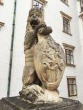 Koninklijk Lion Statue, Hofburg-Paleis in Wenen Royalty-vrije Stock Fotografie