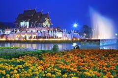 Koninklijk MAI Chiang, Tha van de Flora van de tempel (ratchaphreuk) Royalty-vrije Stock Afbeelding
