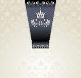 Koninklijk naadloos patroon met kroonlicht royalty-vrije illustratie