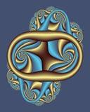 Koninklijk nouveaumedaillon Royalty-vrije Stock Afbeeldingen