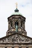Koninklijk palais magistrali wierza w Amsterdam tamy kwadracie Zdjęcia Stock