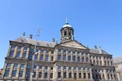 Koninklijk Paleis in Amsterdam, Nederland Royalty-vrije Stock Afbeeldingen
