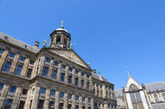 Koninklijk Paleis in Amsterdam, Nederland Stock Afbeelding