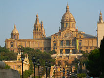 Koninklijk paleis in Barcelona stock foto's