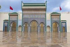 Koninklijk paleis in Fes, Marocco Royalty-vrije Stock Foto's