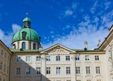 Koninklijk paleis in Innsbruck Oostenrijk royalty-vrije stock afbeelding