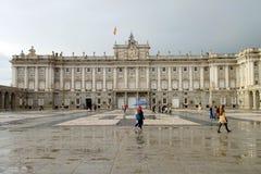 Koninklijk paleis in Madrid Stock Afbeelding