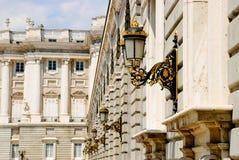 Koninklijk paleis, Madrid Stock Afbeeldingen