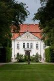 Koninklijk paleis in nieborow stock afbeelding