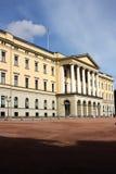 Koninklijk paleis in Oslo stock afbeeldingen