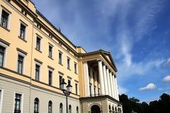 Koninklijk paleis in Oslo royalty-vrije stock fotografie