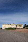Koninklijk paleis in Oslo royalty-vrije stock foto