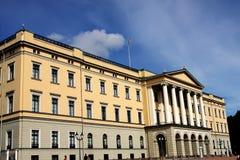 Koninklijk paleis in Oslo Stock Foto's