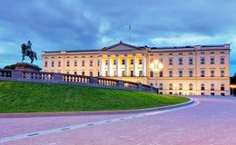 Koninklijk paleis in Oslo, Noorwegen Royalty-vrije Stock Afbeeldingen