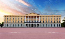 Koninklijk paleis in Oslo, Noorwegen Stock Foto
