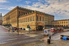 Koninklijk paleis in Stockholm, Zweden Stock Afbeeldingen