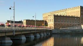 Koninklijk paleis in Stockholm, Zweden stock footage