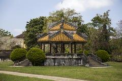 Koninklijk paleis in Tint, Vietnam stock afbeelding