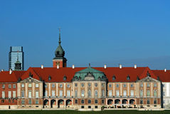 Koninklijk paleis in Warshau Stock Afbeelding