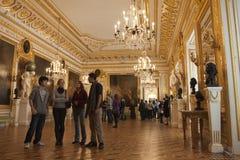 Koninklijk paleis in Warshau binnen royalty-vrije stock foto's