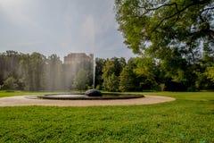 Koninklijk Park Stromovka Krà ¡ lovskà ¡ Obora Stromovka in Praag, Tsjechische Republiek Royalty-vrije Stock Fotografie