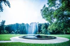 Koninklijk Park Stromovka Krà ¡ lovskà ¡ Obora Stromovka in Praag, Tsjechische Republiek Royalty-vrije Stock Foto