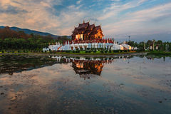 Koninklijk Paviljoen, het Koninklijke Park Rajapruek Royalty-vrije Stock Foto's