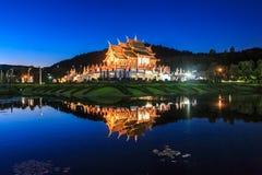 Koninklijk Paviljoen, het Koninklijke Park Rajapruek Royalty-vrije Stock Foto