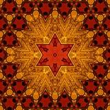 Koninklijk rood en gouden patroon 005 Stock Foto
