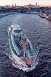 Koninklijk schip van Vloot Radisson De Riviercruise van Moskou royalty-vrije stock afbeelding