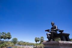 Koninklijk Standbeeld van Koning Ramkhamhaeng The Great Stock Foto's