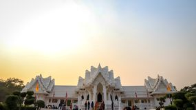 Koninklijk Thais Klooster in Lumbini, Nepal stock fotografie