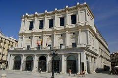 Koninklijk theater, Madrid stock foto