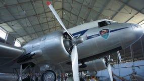 Koninklijk vliegtuig in het verleden royalty-vrije stock fotografie