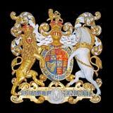 Koninklijk wapenschild van het Verenigd Koninkrijk Stock Foto's