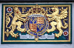 Koninklijk wapenschild van het Verenigd Koninkrijk Royalty-vrije Stock Fotografie