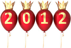 Koninklijke 2012 ballonsdecoratie van het Nieuwjaar Royalty-vrije Stock Foto
