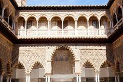 Koninklijke Alcazars van Sevilla stock afbeelding