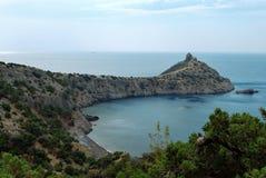 Koninklijke baai in de Krim. De nieuwe wereld Stock Fotografie