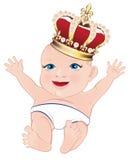 Koninklijke baby stock illustratie
