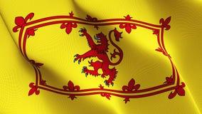 Koninklijke Banner die van de vlag van Schotland op wind golven vector illustratie