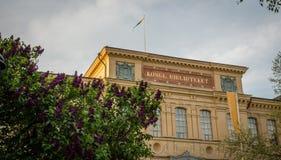 Koninklijke bibliotheek van Stockholm in de zomer royalty-vrije stock foto's