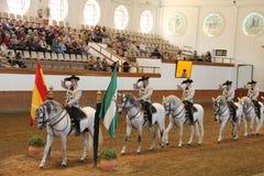 Koninklijke $ce-andalusisch School van Ruiterart. Royalty-vrije Stock Foto
