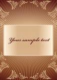Koninklijke chocoladeachtergrond Royalty-vrije Stock Afbeelding