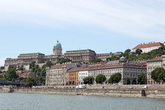 Koninklijke cityscape van kasteelboedapest Stock Foto