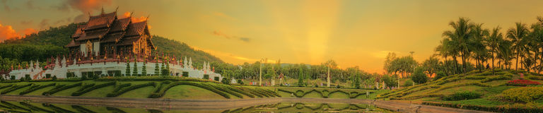 Koninklijke Flora Ratchaphruek Park, Chiang Mai, Thailand Royalty-vrije Stock Fotografie