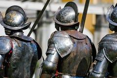 Koninklijke gepantserde gardesoldaten Stock Afbeelding
