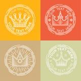 Koninklijke geplaatste emblemen royalty-vrije illustratie