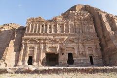 Koninklijke Graven in de oude stad van Petra, Jordanië royalty-vrije stock foto