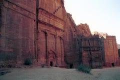 Koninklijke graven, Petra, Jordanië royalty-vrije stock foto